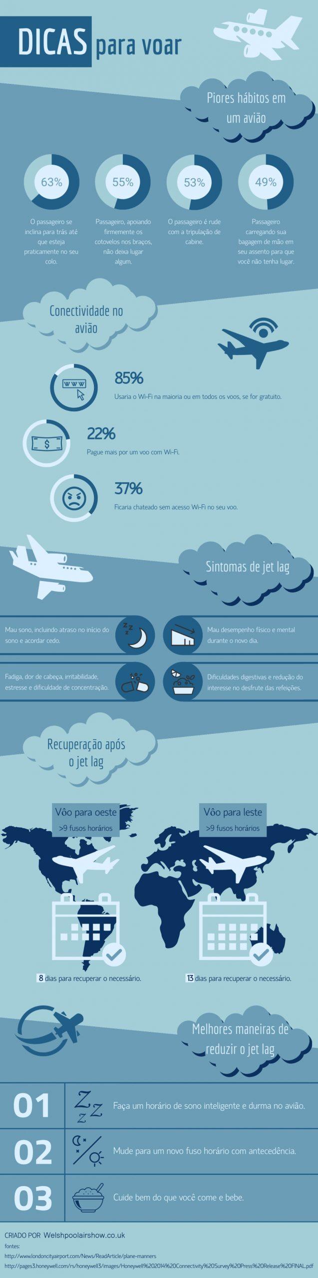 Dicas para voar infografico