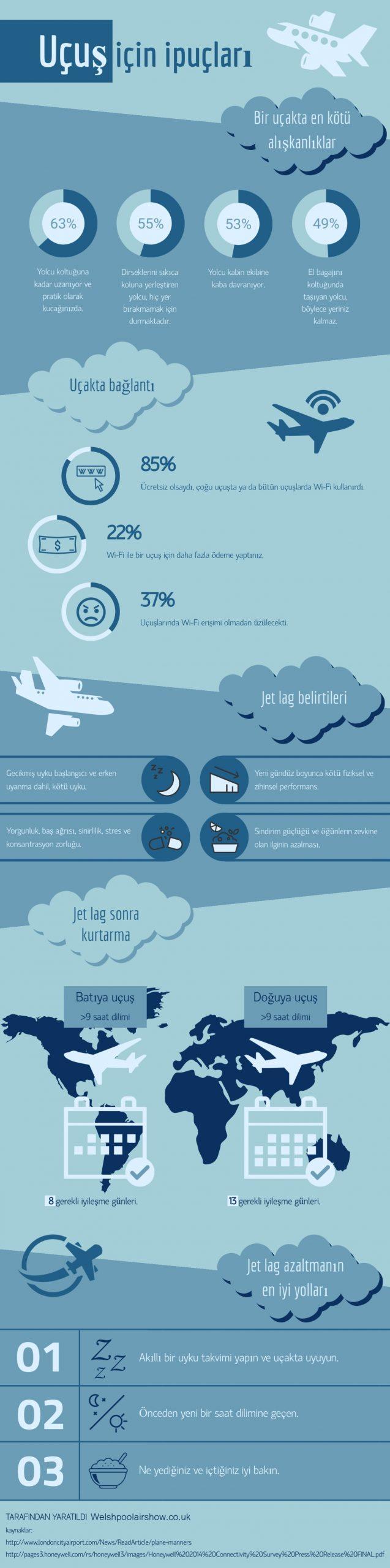 Ucus icin ipuclari infografik