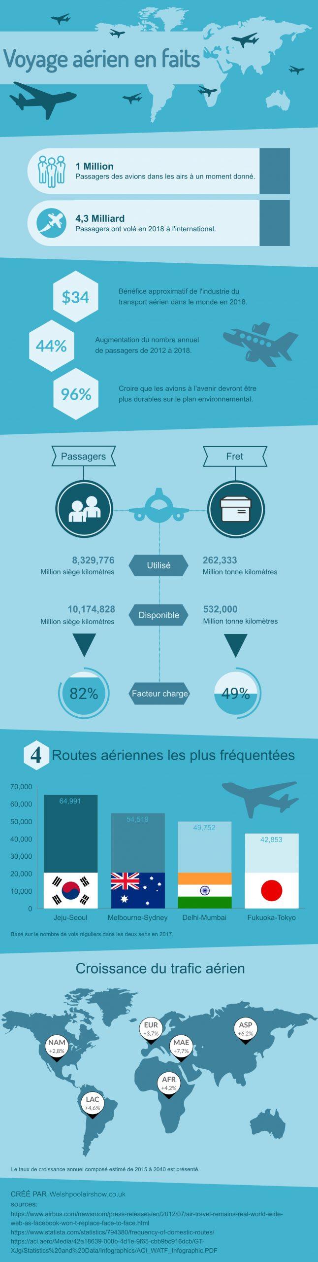 Voyage aerien en faits infographie